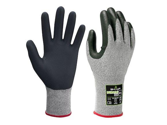 Showa 386 Duracoil Microporous Gloves Nitrile Finger (Gloves)