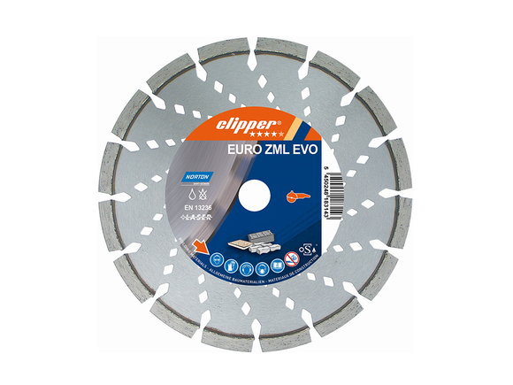 Norton Clipper Concrete Cut Off Saw Blade Euro-Zml Evo 350mm x 25.4mm