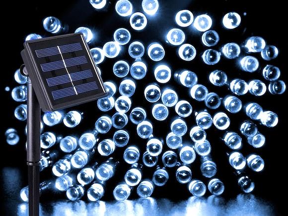 Solar Fairy Lights 100 LED 10m Cool White