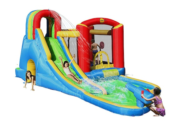Happy Hop Splash Wave Fun Zone Bouncy Castle
