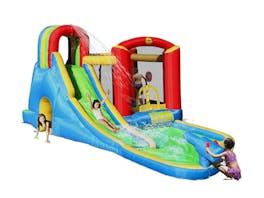 Happy Hop Splash Wave Fun Zone Bouncy Castle