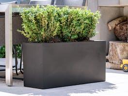 Delgada Fiberstone Planter Black 92L