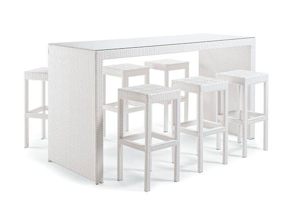 Open Bar Set 6 Seater - White