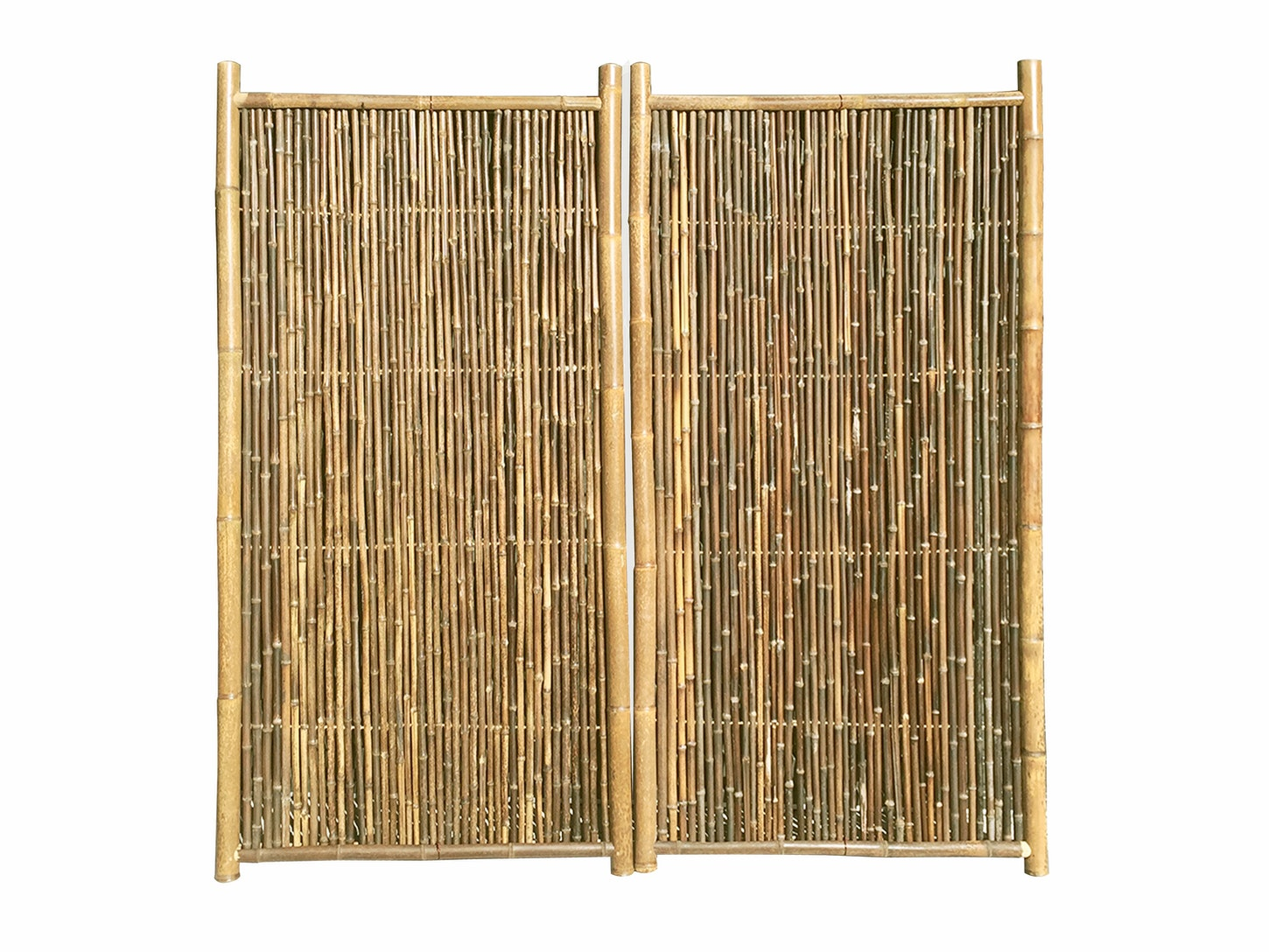 Bamboo Garden Screen 1 8m X 0 9m Natural Pair Privacy Screens Outdoor Decor Home Living Trade Tested