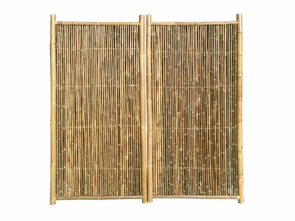 Bamboo Garden Screen 1.8m x 0.9m Natural - Pair
