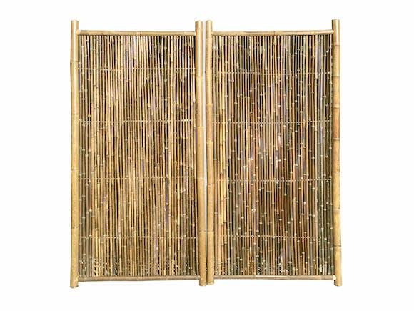 Bamboo Garden Screen 1.8m x 0.9m Natural - Pair