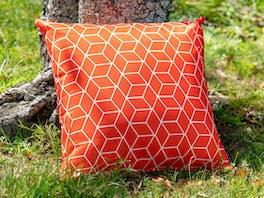 Outdoor Cushion Geo Orange
