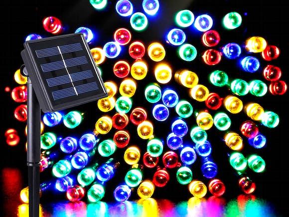 Solar Fairy Lights 100 LED 10m Multi Colour