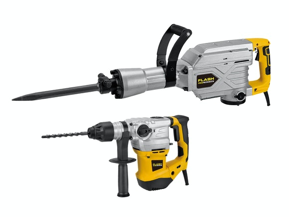 Flash Rotary Hammer Drill/HD Demolition Hammer Combo