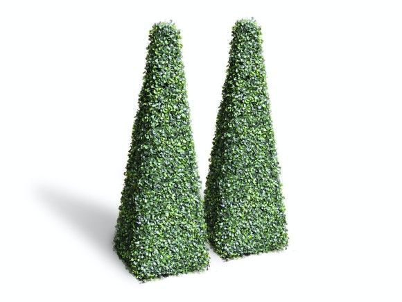 Artificial Topiary Conical English Box 150cm - Pair