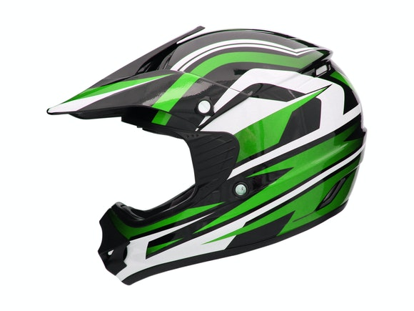 Kid's Motocross Cyber Helmet Green 57-58cm