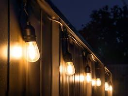 Festoon Lights LED 5m with 10 Filament Bulbs