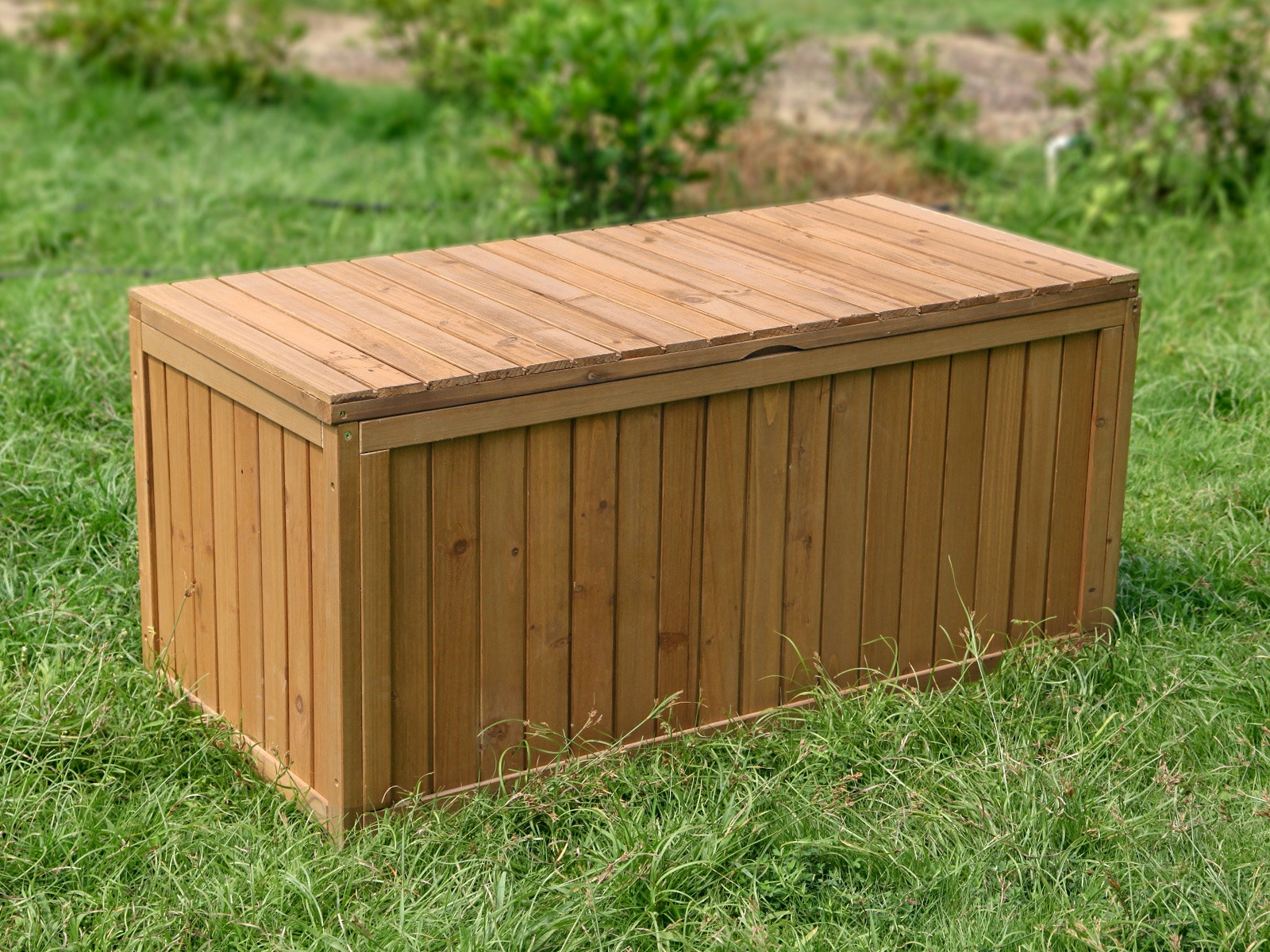 Image of: Outdoor Storage Box Wooden 290l Storage Boxes Outdoor Furniture Home Outdoor Living Trade Tested