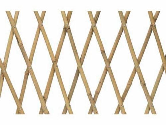 Bamboo Expanding Trellis 1.8m x 0.9m Natural - Pair