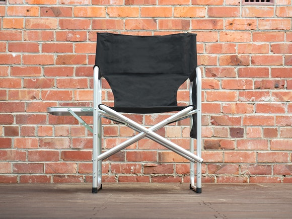 Aluminium Directors Chair with Side Table
