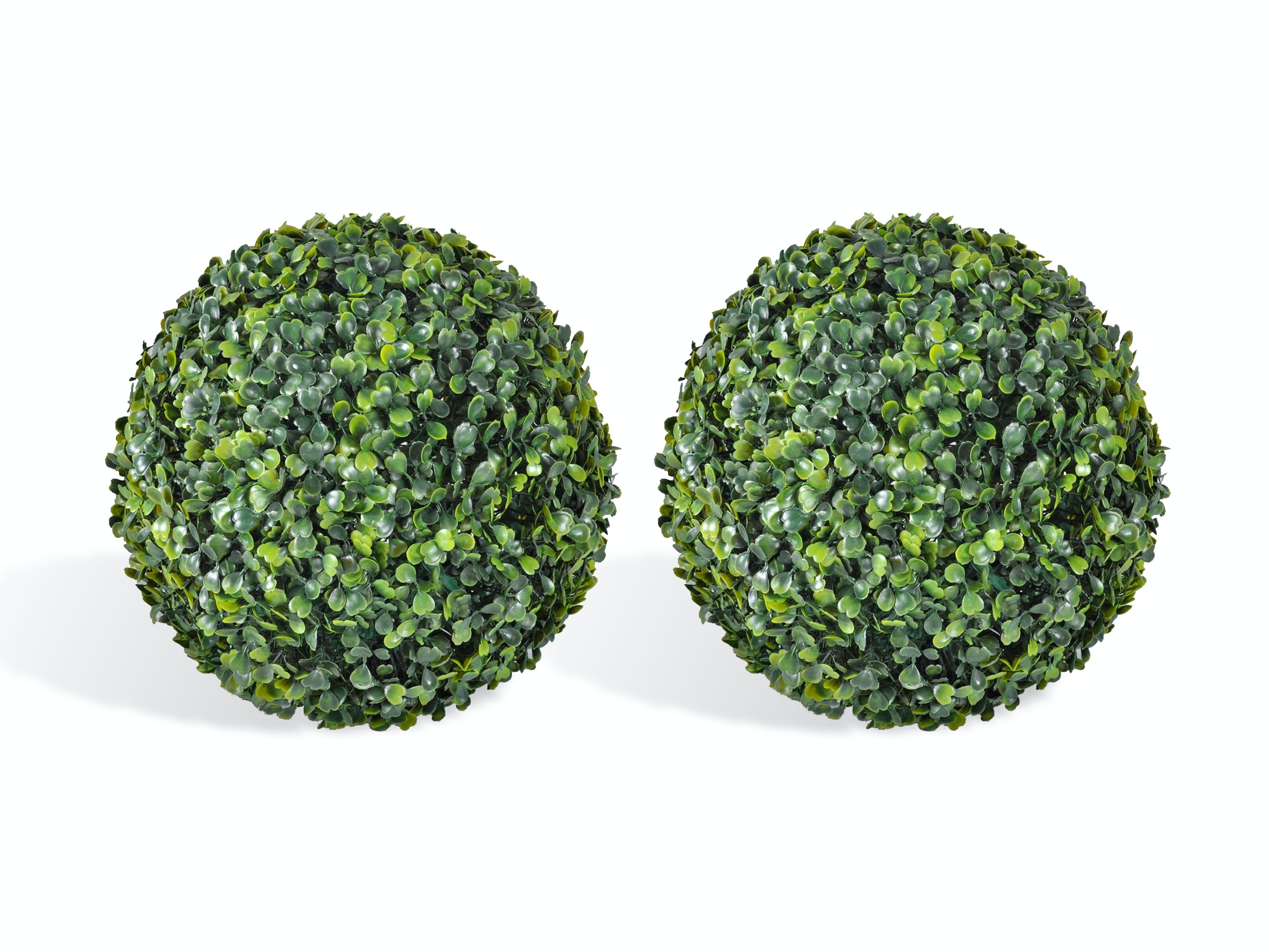 Artificial Topiary Hedge Ball English Box 48cm - Pair