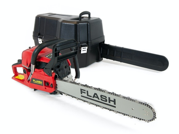 "Flash Chainsaw 49cc with 20"" Bar and Carry Case"