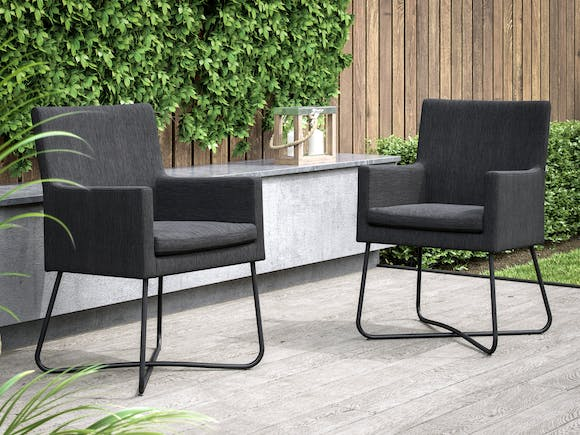 Berg Outdoor Dining Chairs - Pair