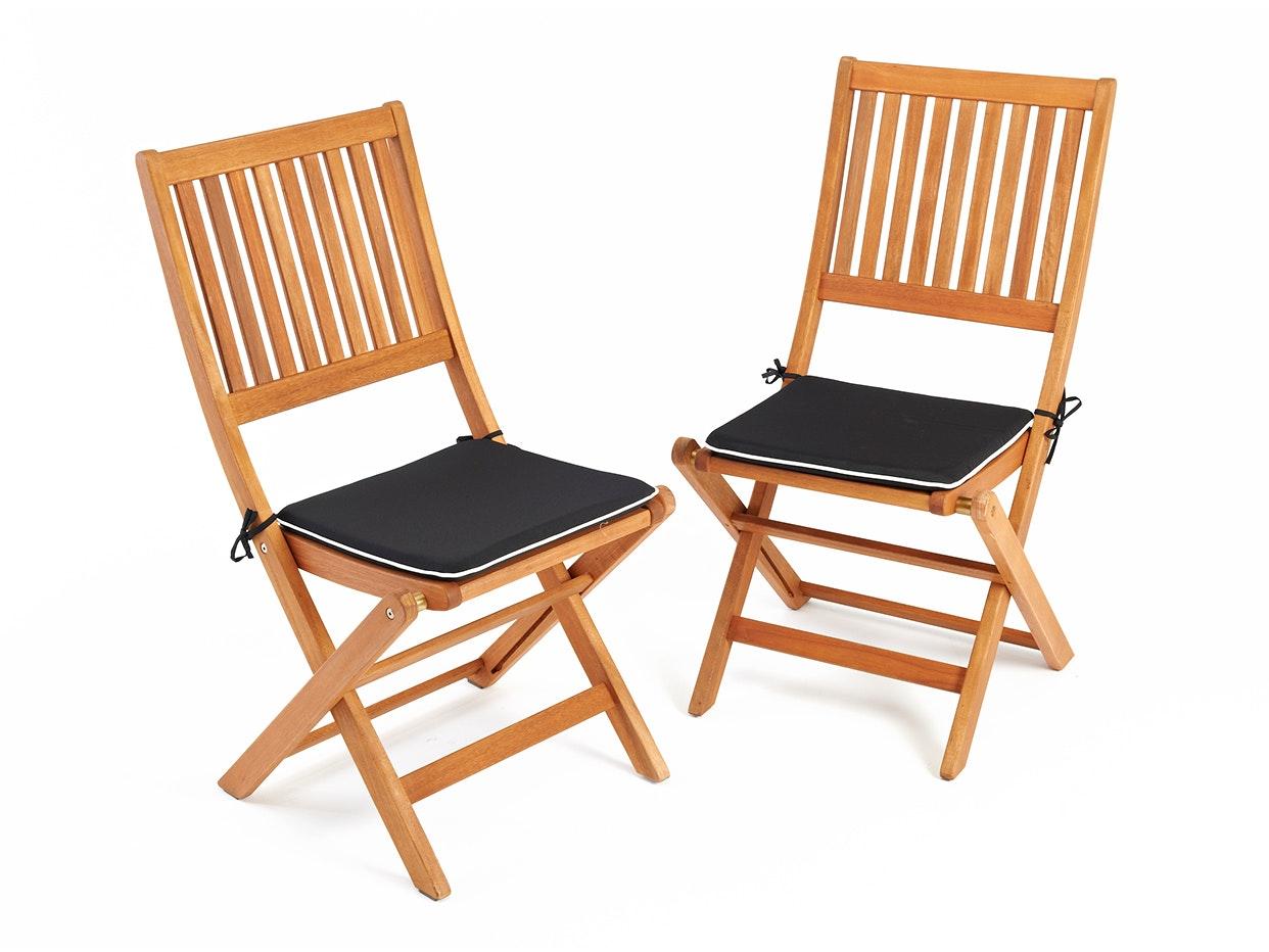 Hardwood Dining Chairs - Pair