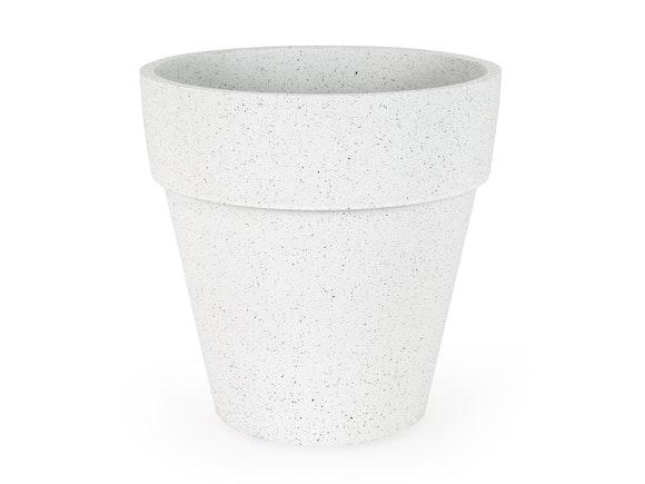 Indoor Planter Pot Textured Polymer 37cm Sand White