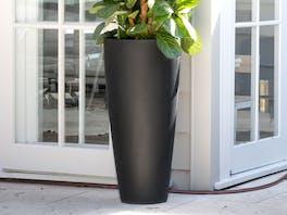 Cono Fiberstone Planter Black 109L