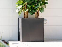 Cubo Fiberstone Planter Black 216L