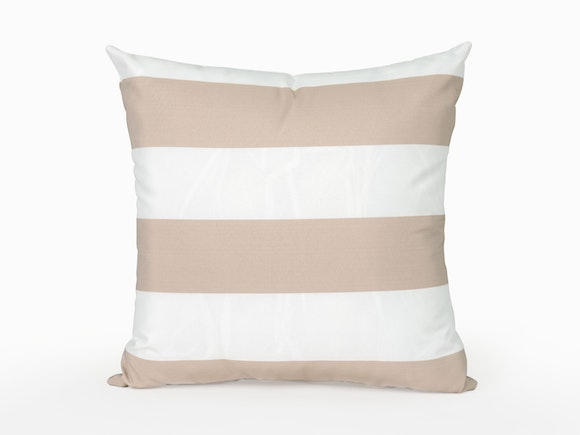 Outdoor Cushion Beige Sand Stripe