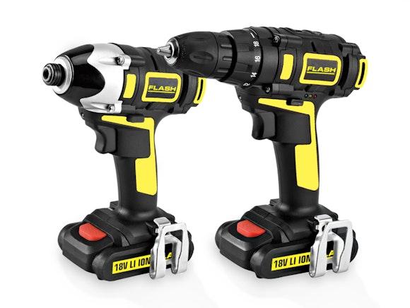 Flash Cordless Drill Driver Combo 18V 1.5Ah