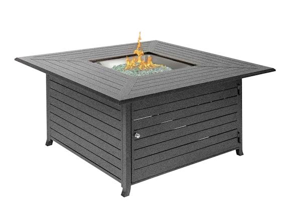 Hideaway Aluminium Gas Fire Table