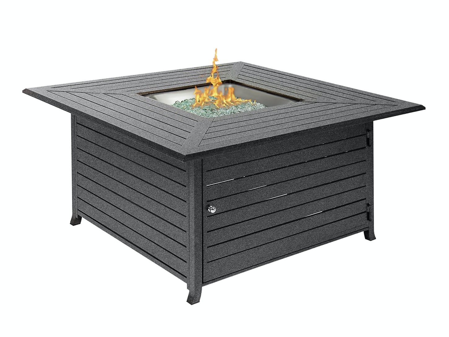 Hideaway aluminium gas fire pit table gas outdoor heaters heating cooling home outdoor living trade tested