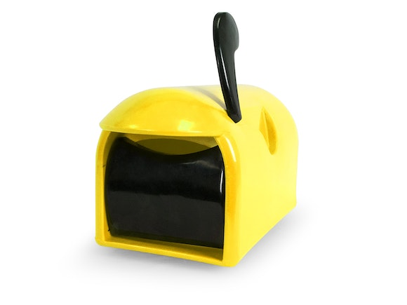 Rural Delivery Letterbox Yellow