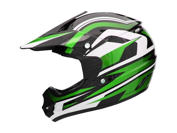 Kid's Motocross Cyber Helmet Green 53-54cm