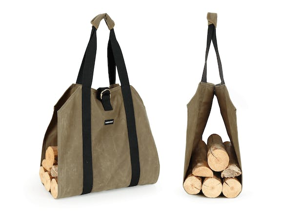 Firewood Carrier Waxed Canvas