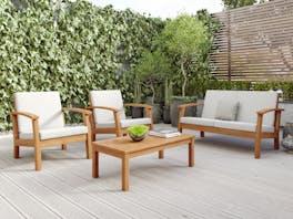 Flaxmere Hardwood Outdoor Sofa Set 4 Piece Classic