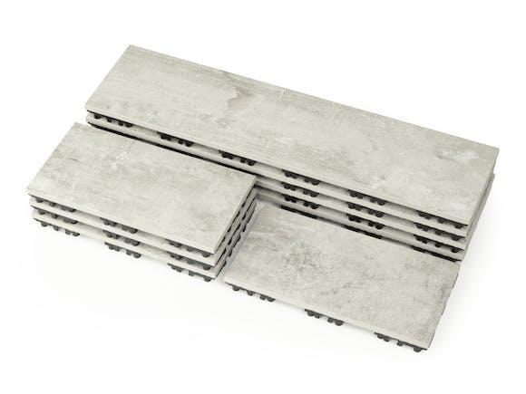 Outdoor Ceramic Woodgrain Deck Tiles Grey Wash - 0.54m²