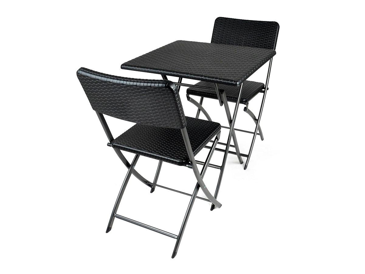 Trestle Dining Set Rattan Look 2-Seater