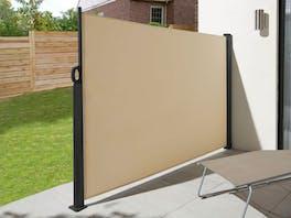 Retractable Side Screen 1.8m x 3m Beige