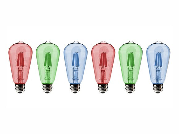 Festoon Lights Multicolour Replacement Bulbs - 6 Pack