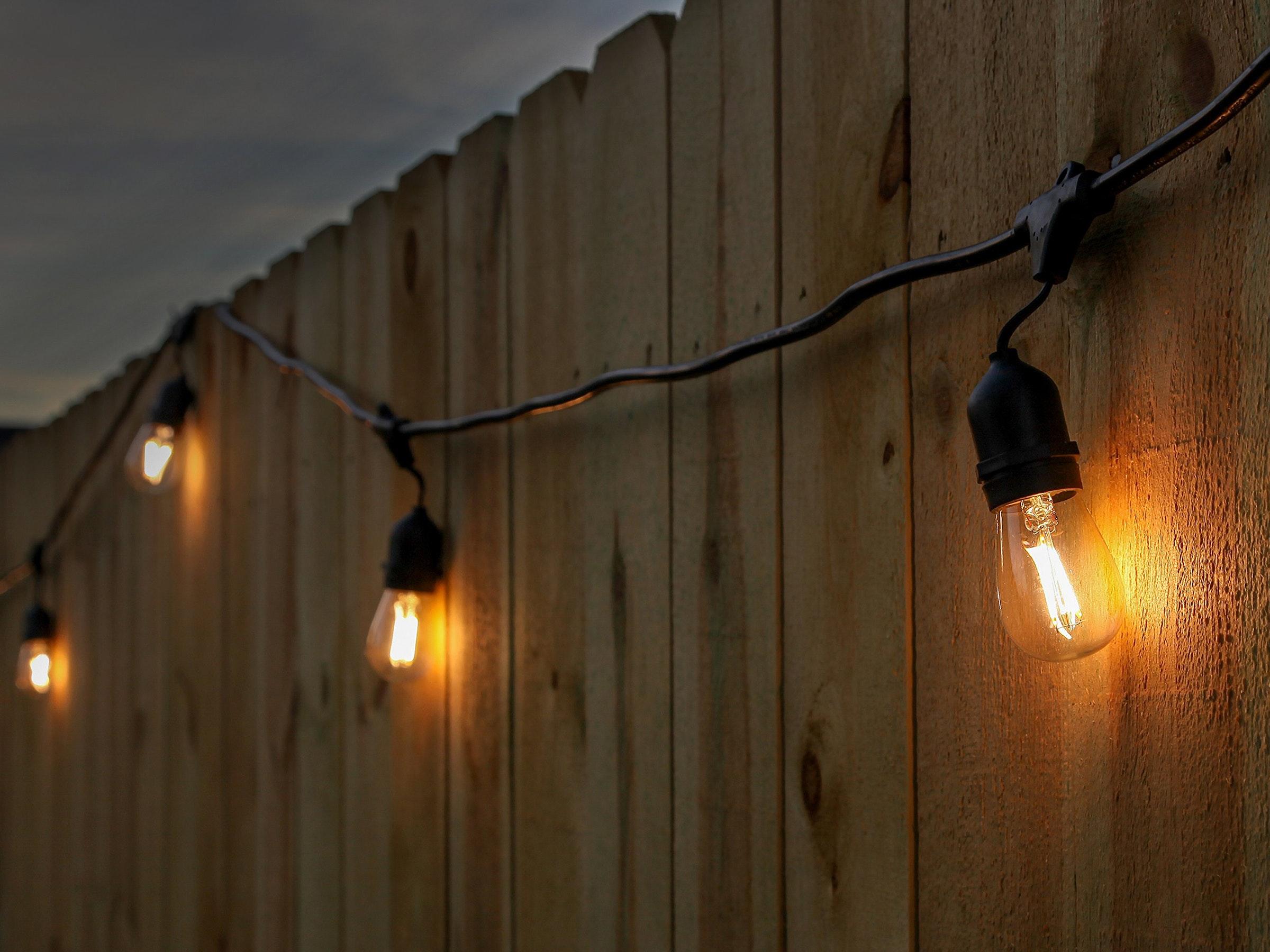Festoon Lights LED 15m with 24 Filament Bulbs