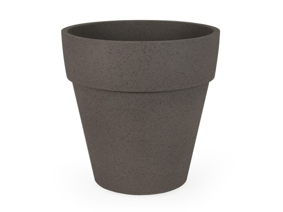 Indoor Planter Pot Textured Polymer 37cm Sand Taupe