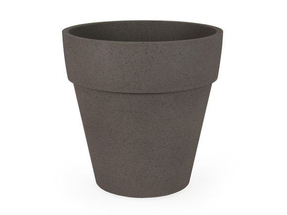 Indoor Planter Pot Textured Polymer 37cm Sand Taupe