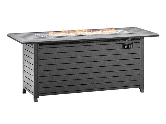 Slatted Aluminium Gas Fire Pit Table