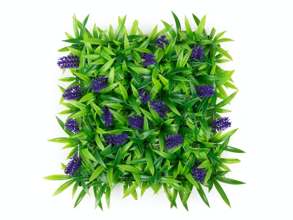 Artificial Hedge Wall Koromiko Purple 3m²
