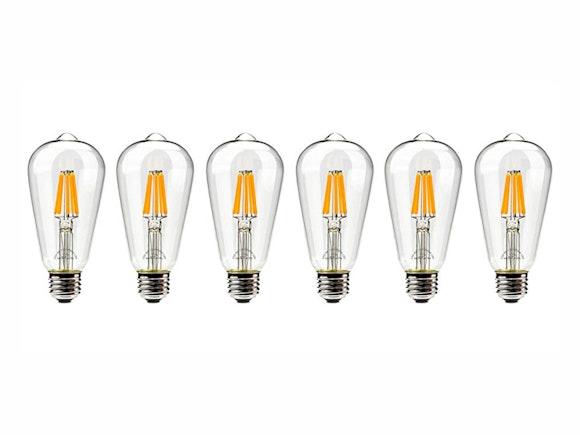 Festoon Lights Filament Replacement Bulbs - 6 Pack