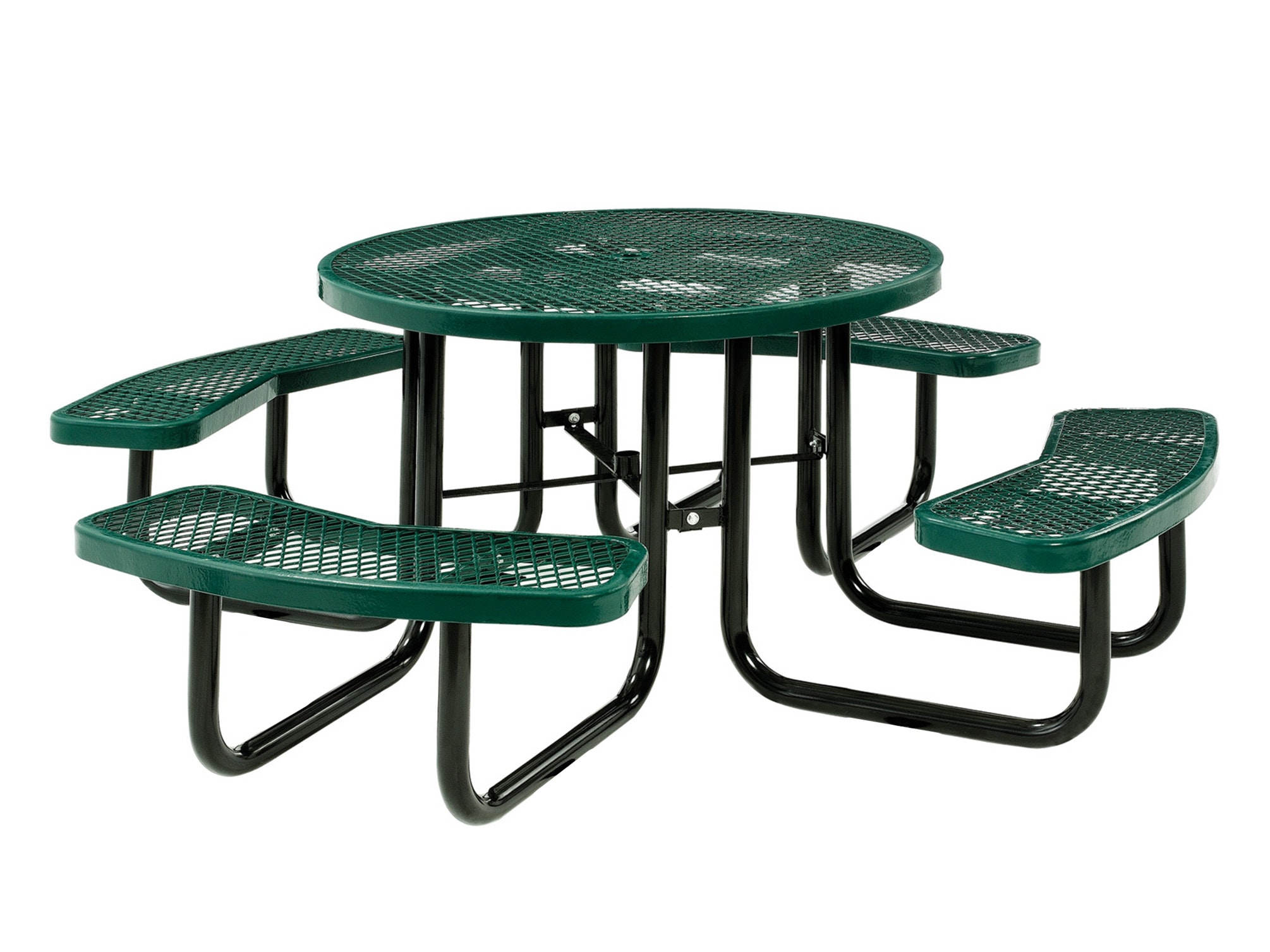 Picnic Table Round 8 Seater - Green
