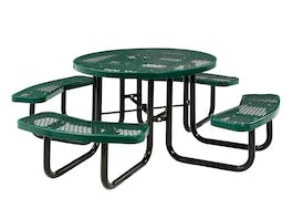 Picnic Table Round 8 Seater Commercial - Green