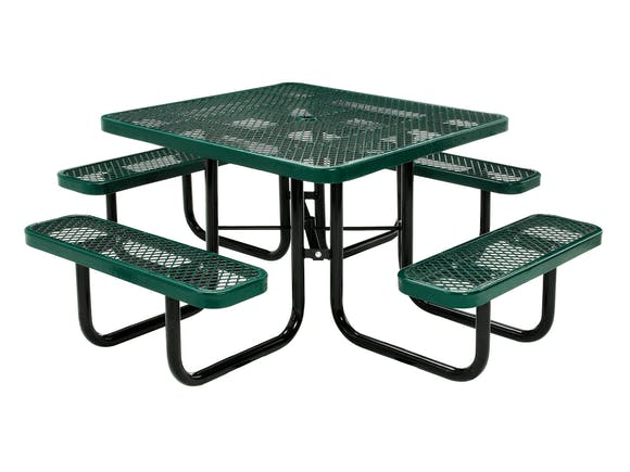 Picnic Table Square 8 Seater - Green