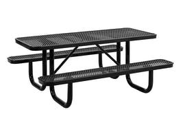 Picnic Table 6 Seater Commercial - Black