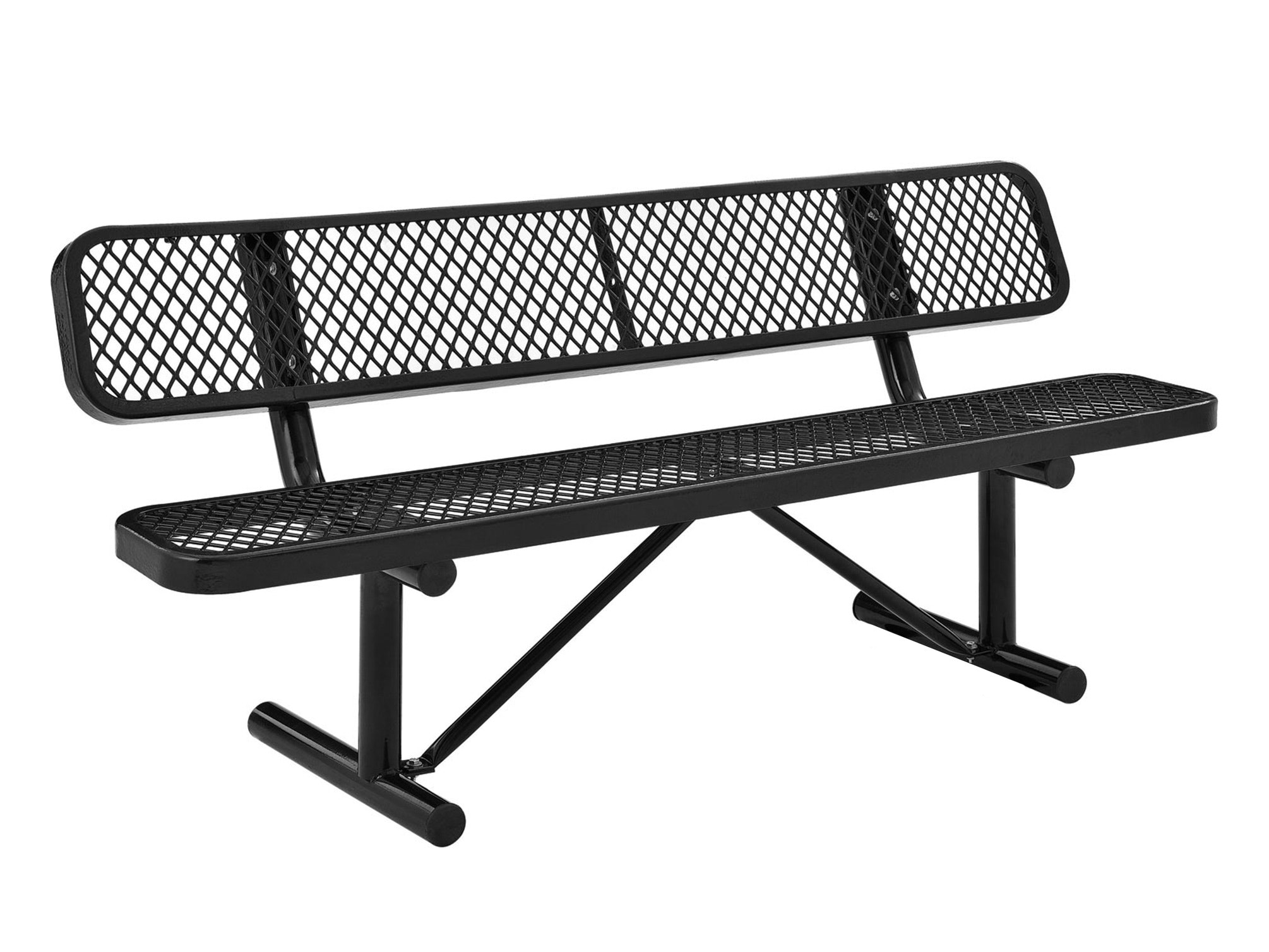 Park Bench 3 Seater - Black