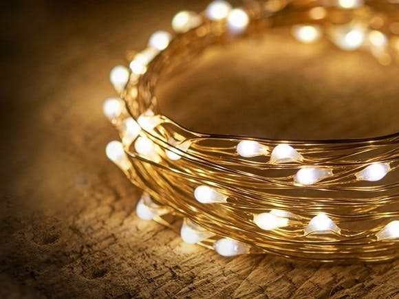 Solar Seed Lights Copper Wire 300 LED Warm White